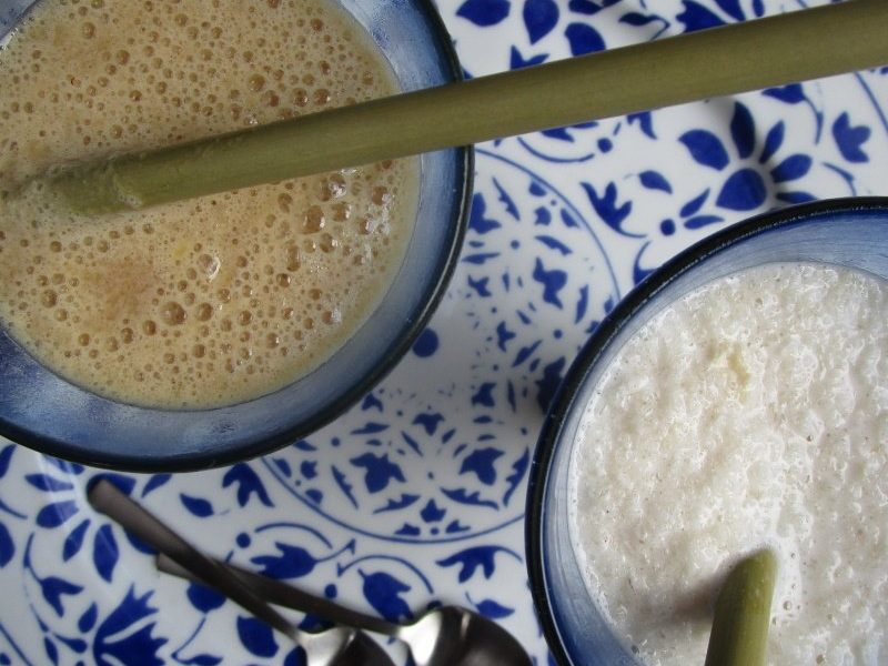 Verjuice and almond milk granizadas